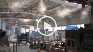 Nawilżanie hali produkcyjnej pianek