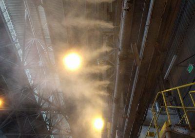 odpylanie mgła wodną fabryka hala produkcji