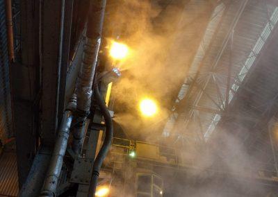 odpylanie powietrza w fali produkcujnej sucha mgła