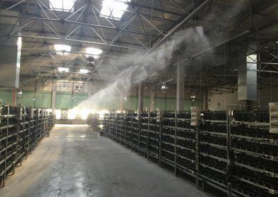 serwerownia 1, 60000 procesorów chłodzenie mgłą