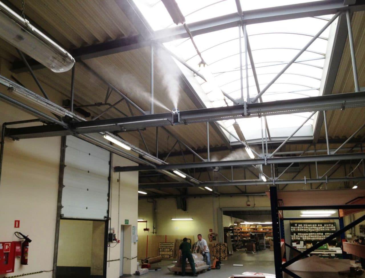 nawilżanie powietrza w drukarni system aero firmy Otech, nawilżacze powietrza dla przemysłu