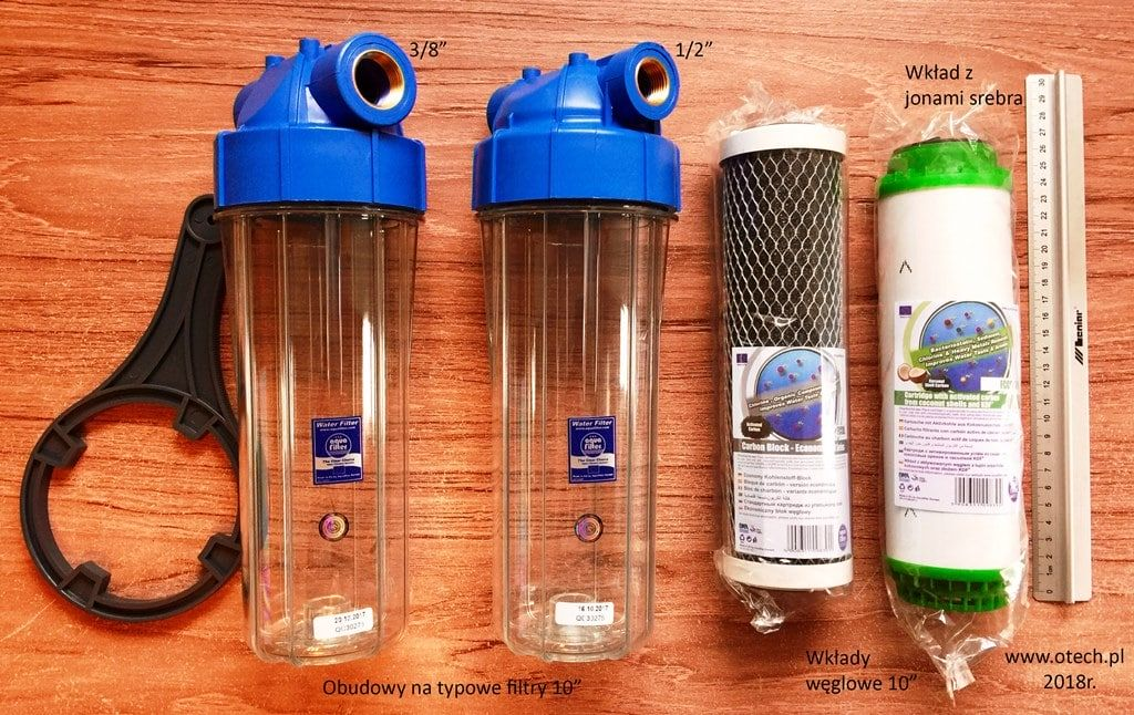 """filtr 10"""" z aktywnym węglem, do wody spożywczej, stosowany w nawilżaczach powietrza - Przemysłowe nawilżacze powietrza"""