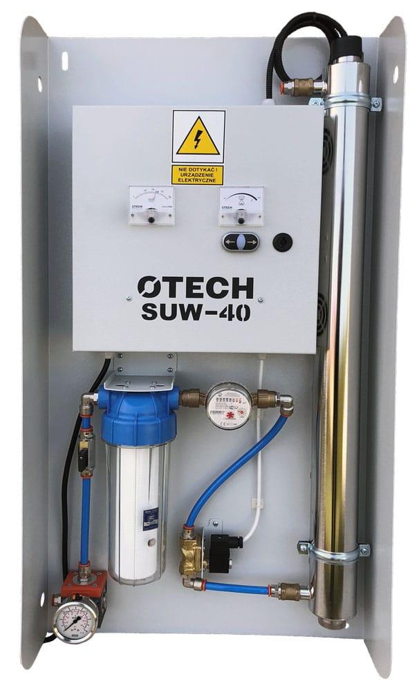 System uzdatniania wody z lampą UV
