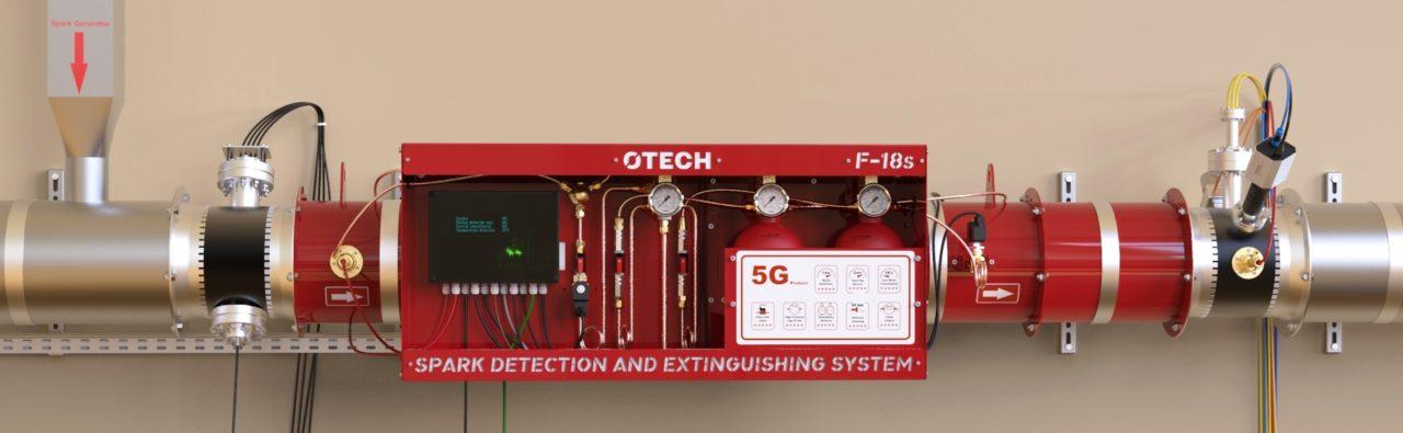 System detekcji i gaszenia iskier