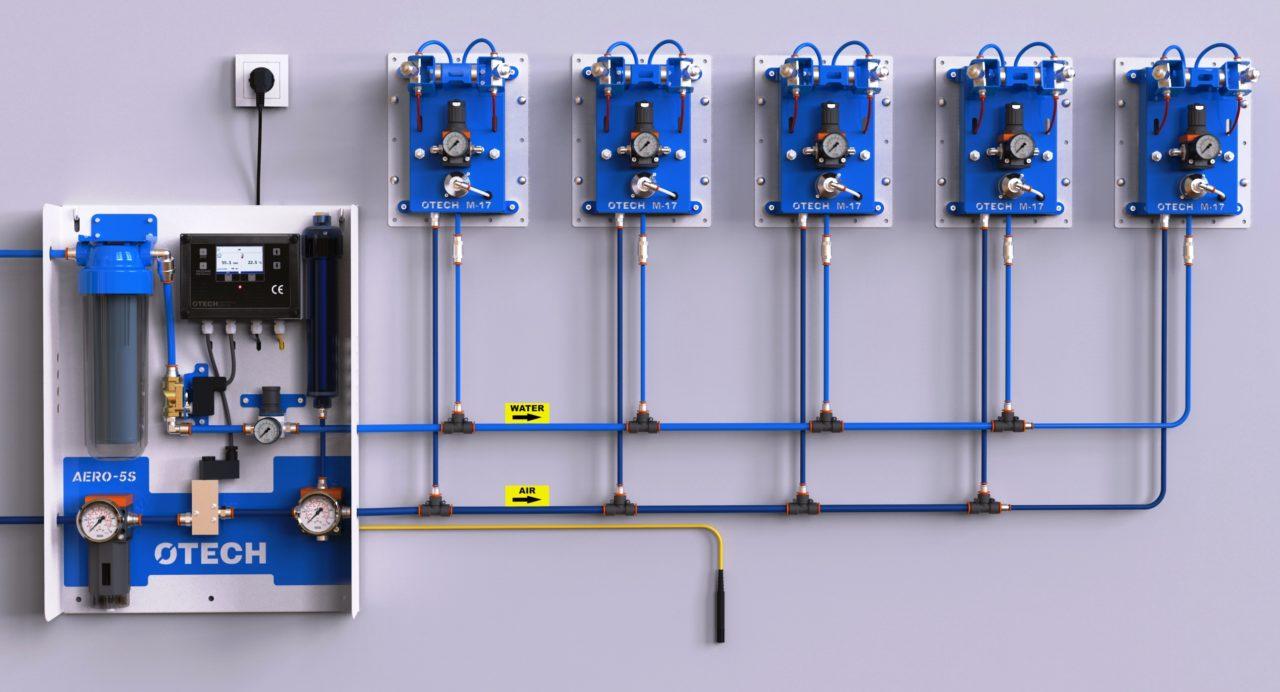 Przemysłowy nawilżacz powietrza do drukarni, hal, fabryk, magazynów