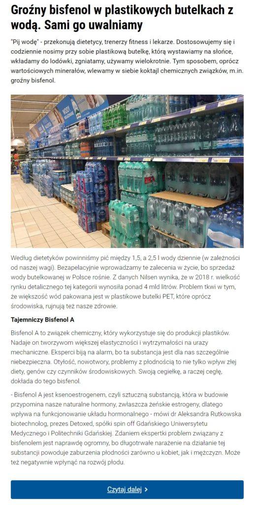 Uzdatnianie wody - Bisfenol A