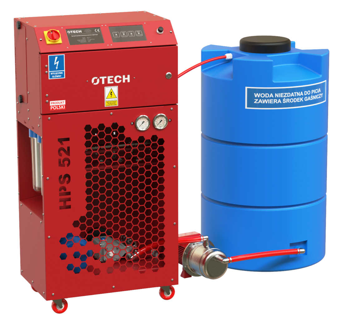 Zestaw systemu wykrywania i gaszenia iskier i czarnych ciał gorących