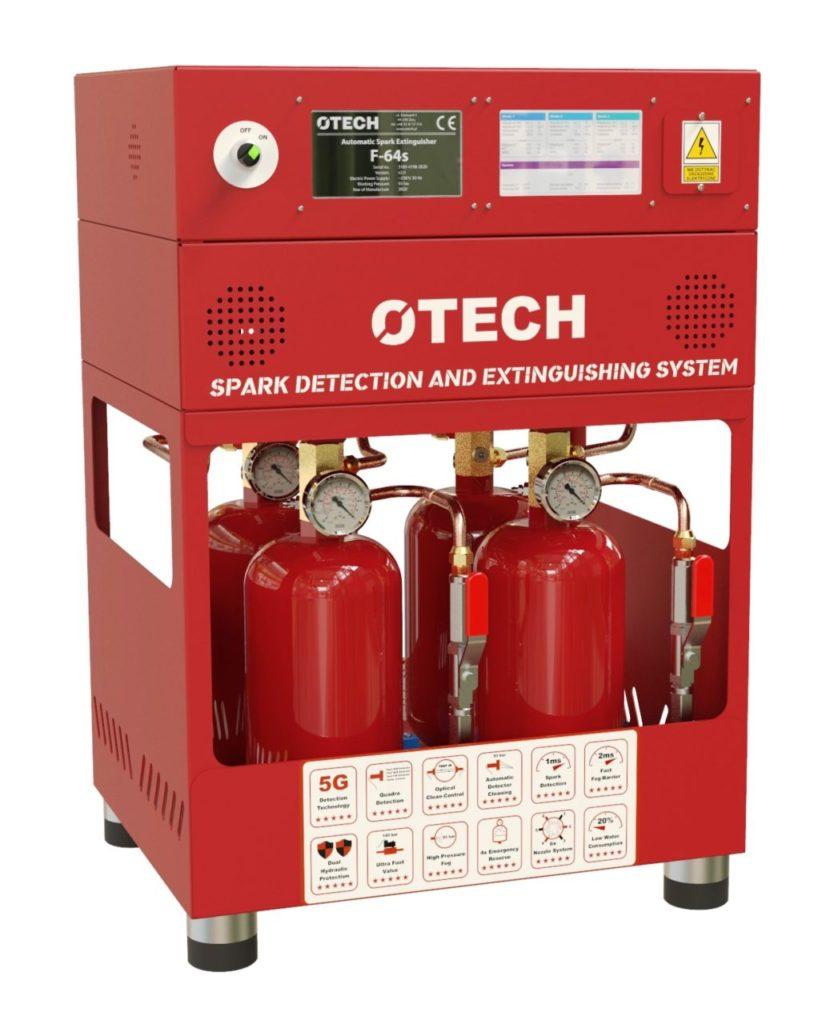 detekcja i gaszenie iskier, wykrywanie iskier, gaszenie iskier, iskry