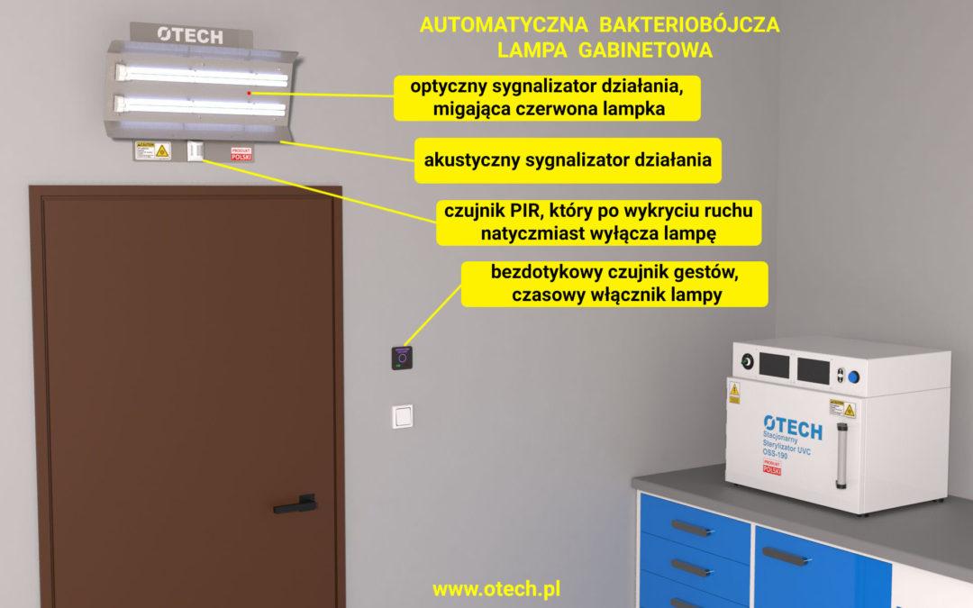 lampa bakteriobójcza do gabinetu lekarskiego, stomatologa, sali operacyjnej, lampa uvc, sterylizator uv-C