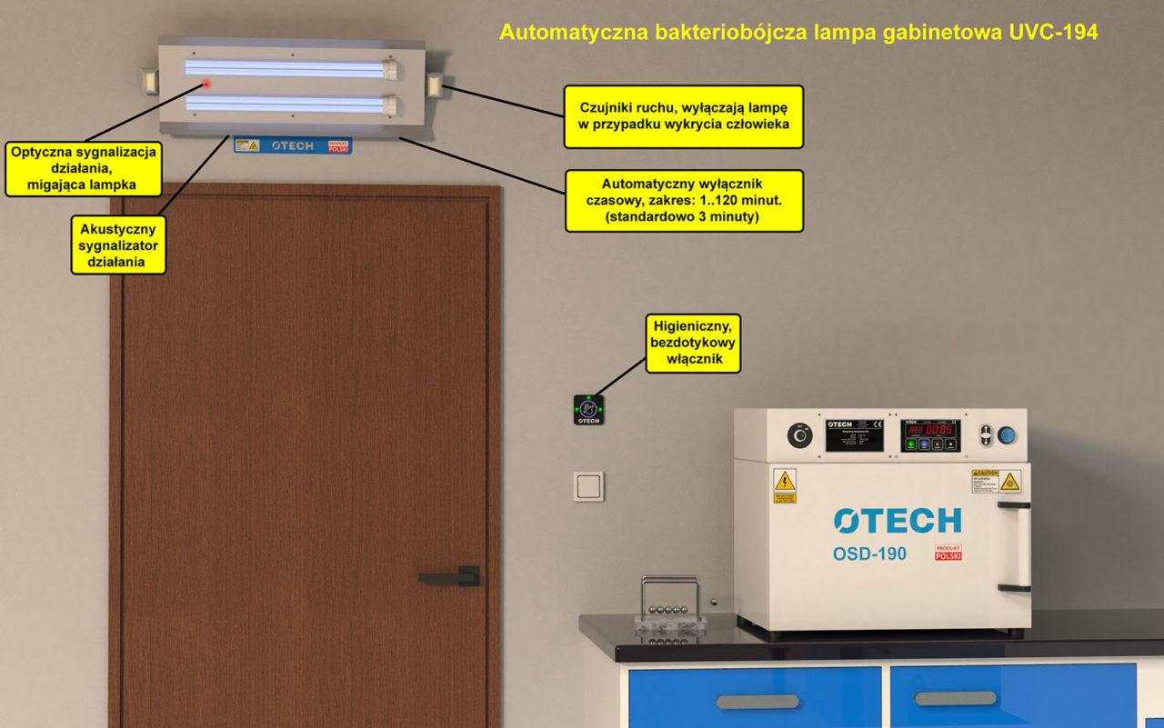 lampa bakteriobójcza UV-C do gabinetu lekarskiego, szpitala, stomatologa