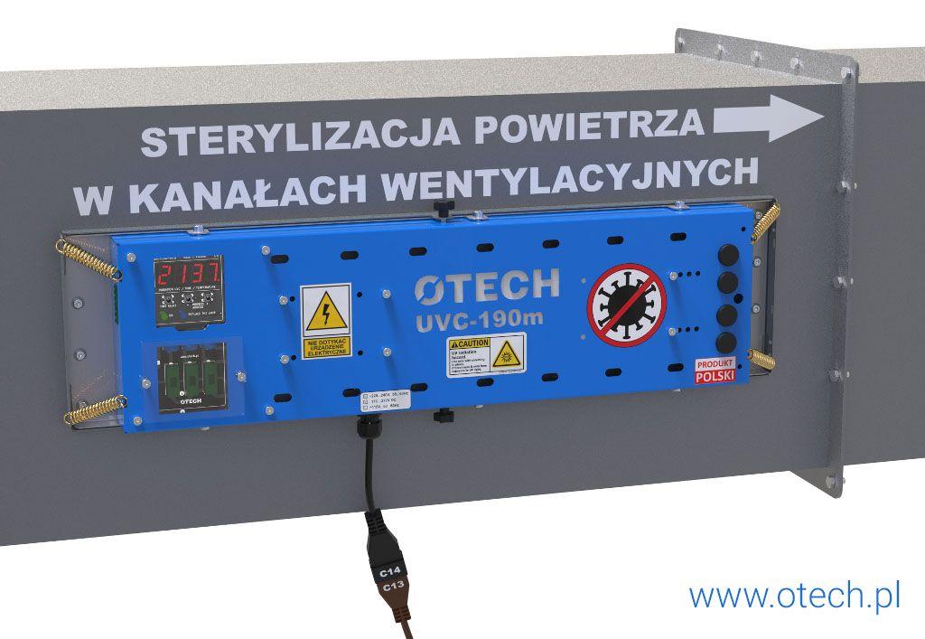 lampa UVC do wentylacji, kanał wentylacyjny, dekontaminacja, filtr UV, UVC, UV-C, sterylizator, lampa bakteriobójcza, ochrona covid, lampa covid,