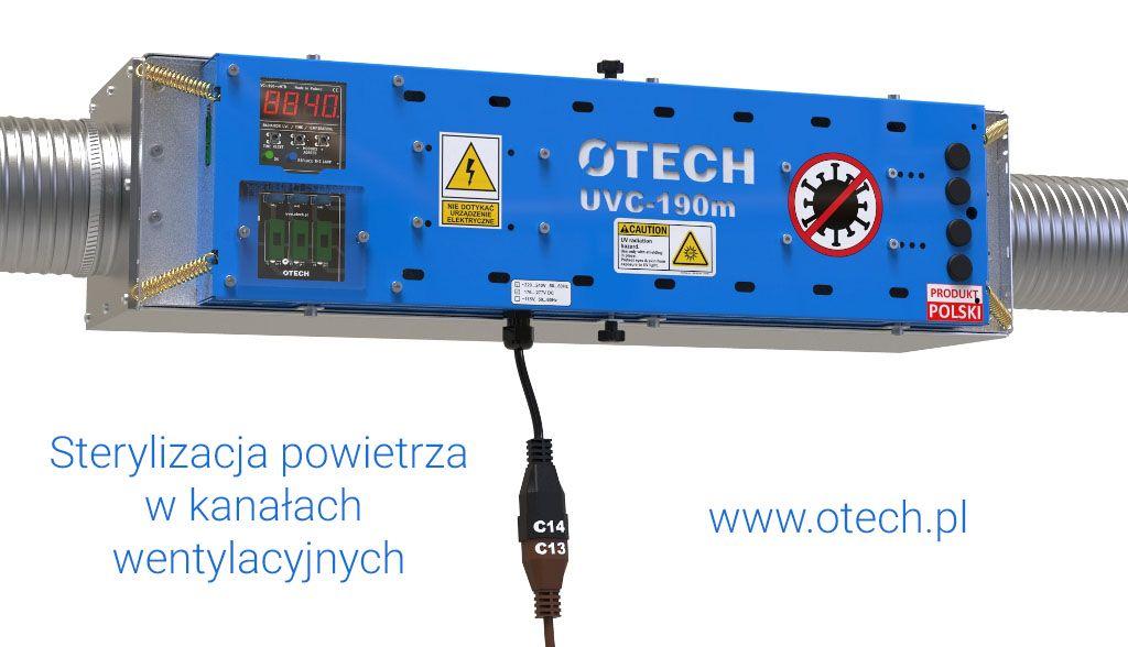 lampa UVC, dekontaminacja, filtr UV, UVC, UV-C, sterylizator, lampa bakteriobójcza, ochrona covid, kanał wentylacyjny okrągły