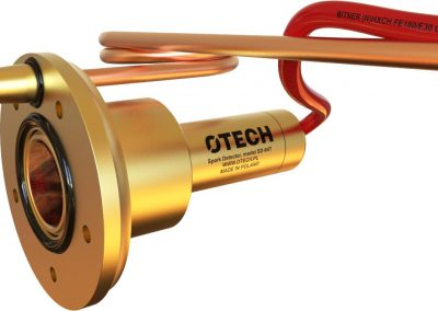 detektor iskier z spryskiwaniem wizjera